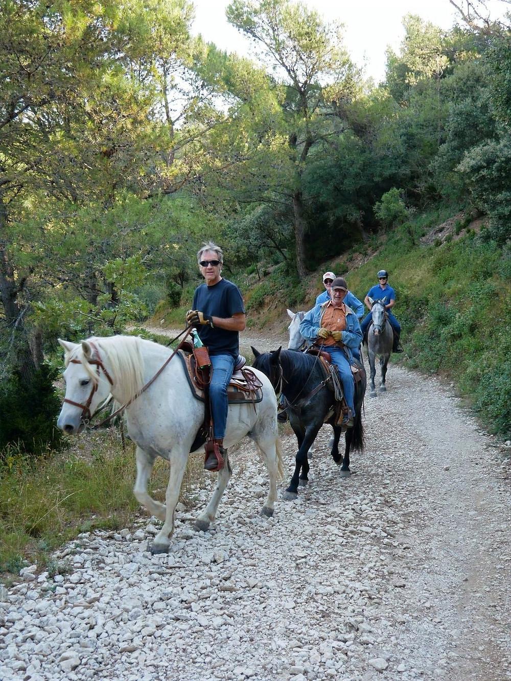 Promenade à cheval à la fraîche
