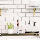 When it comes to new builds or remodels, a lot of clients go with the classic white backsplash. But what about that grout color?  If you want a trendy look, opt for black. If you want an easy-to-clean and more timeless option, opt for gray. If you are trying to open up the space, opt for white. Not recommended for high traffic areas.  Which grout color would you go with?