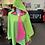 Thumbnail: Pink & Green Reversible Rain Cape