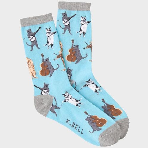 Musical Cats Socks
