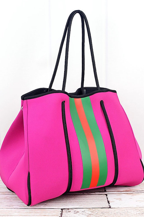 Harper Hot Pink Neoprene Tote with Pouch