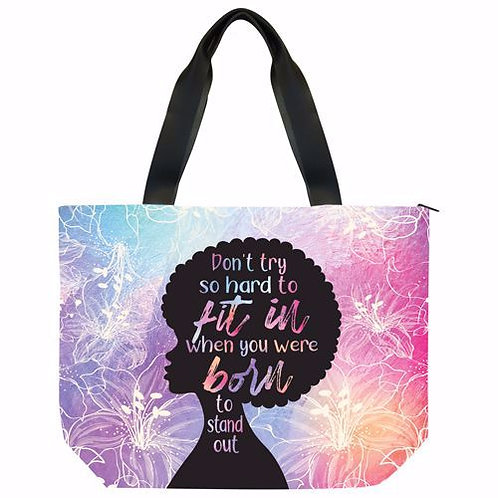 Born To Stand Out Canvas Handbag