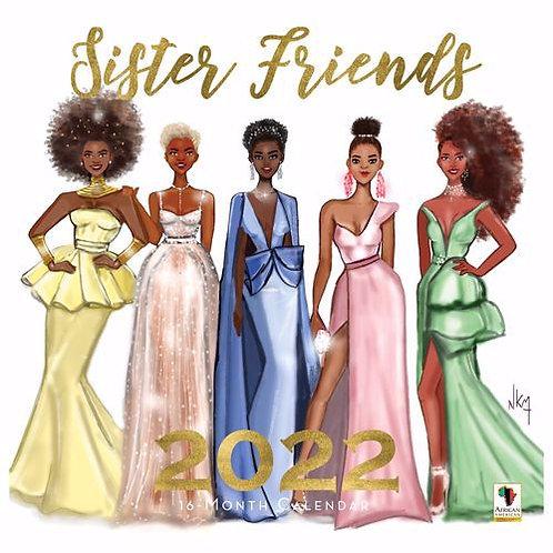 Sister Friends Wall Calendar 2022