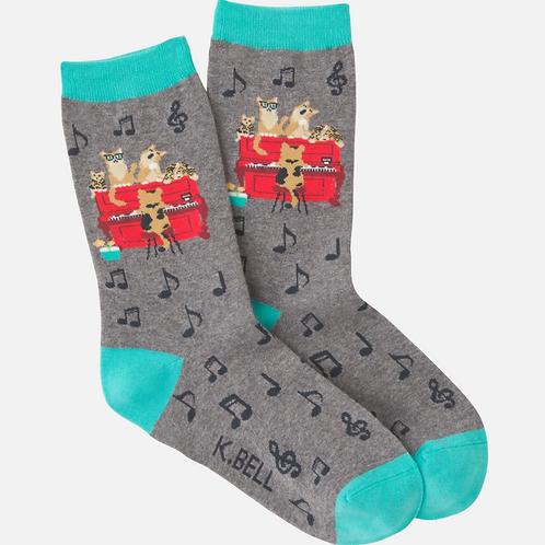 Piano Cats Socks