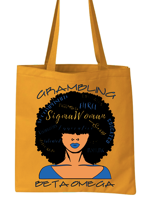 Afro Lady  Tote Bag
