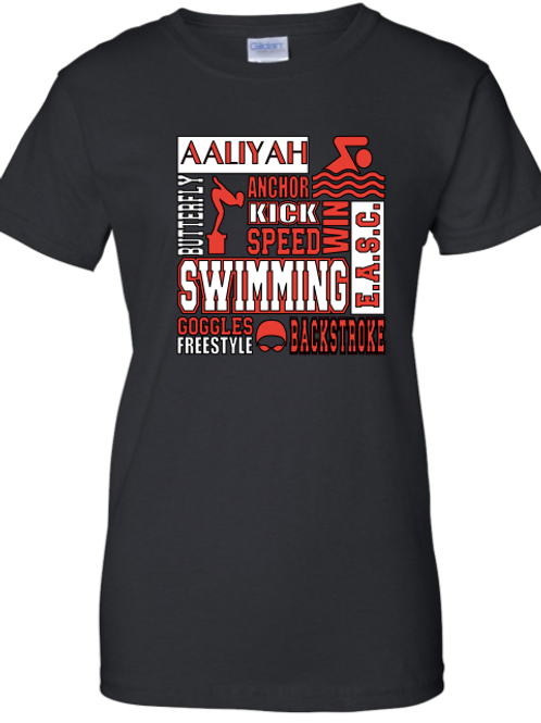 Swimmer Subway Art Tee(Adult Sizes)
