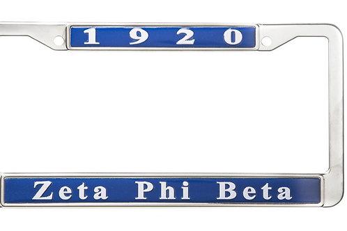 Zeta license plate frame