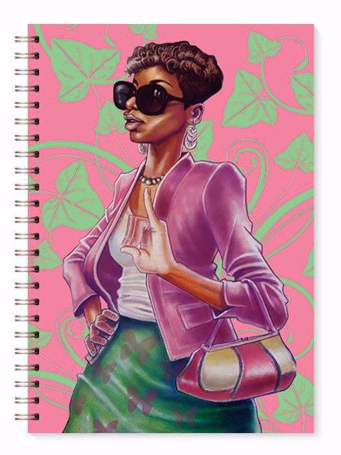 Pink & Green Journal