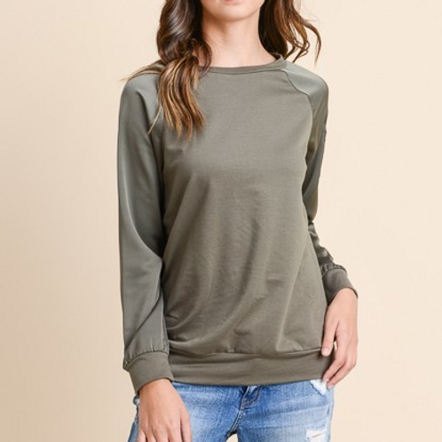 Satin Bomber Sweater