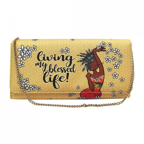 Living My Blessed Life Crossbody/Clutch