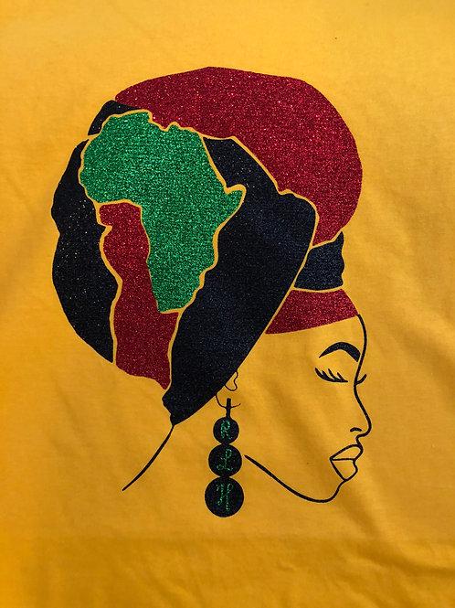 African Headwrap tee