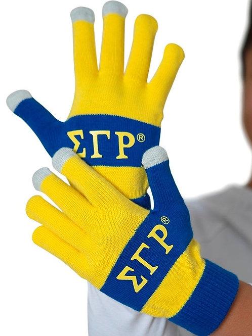 Sigma Gamma Rho Knit Texting Gloves w/ Added Grips