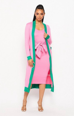 P&G Dress and Duster Set