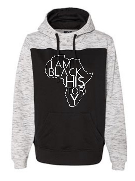 I Am Black History Color Block Hoodie