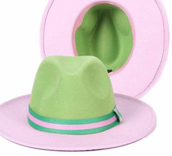Pink & Green Fedora
