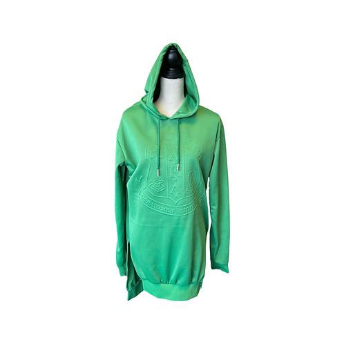 """Embossy"" hooded shirt dress"