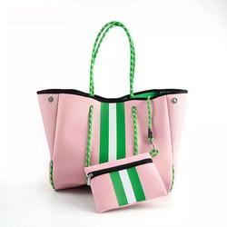 Pink & Green Large Fashion Tote