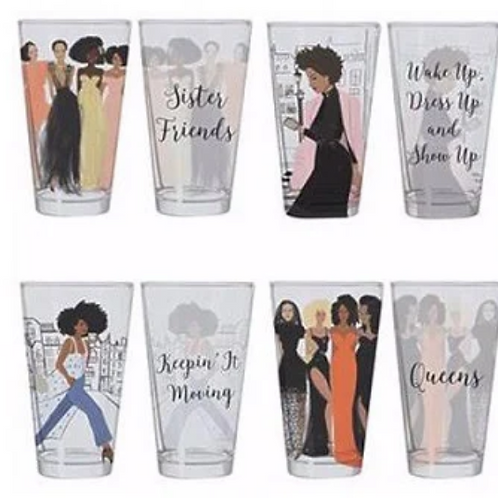 Girlfriends Drinking Glass Set