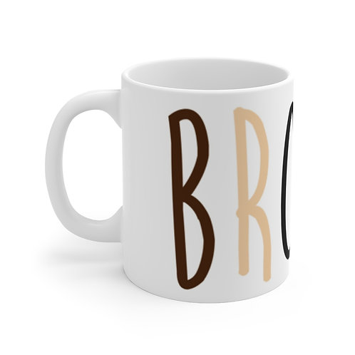 BROWN. Mug