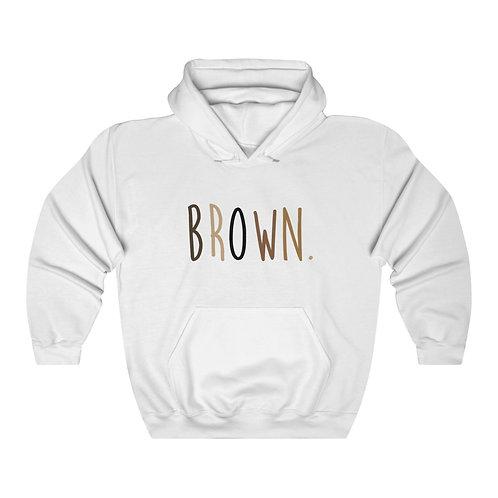 BROWN. Hoodie