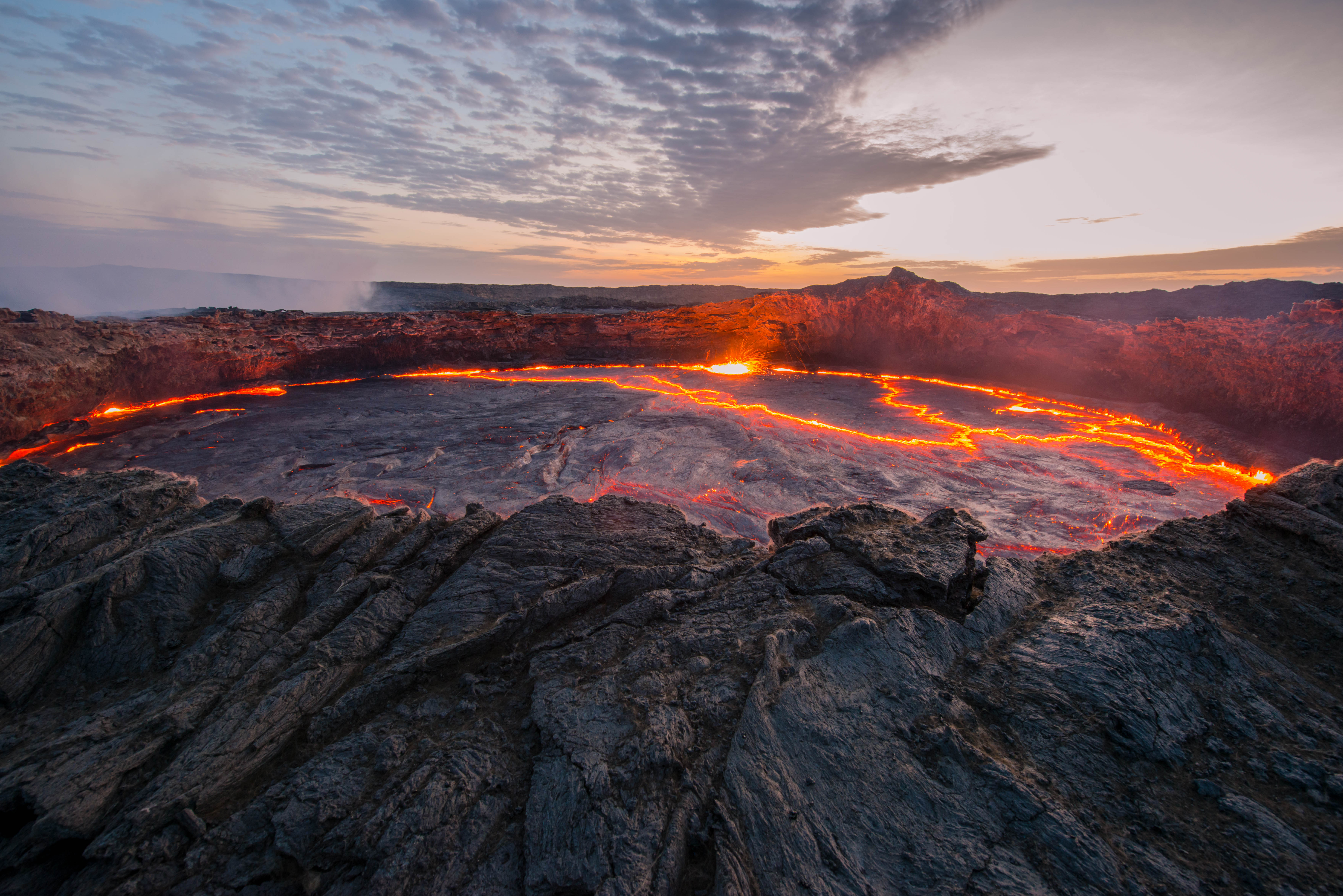 Ertale is the most active volcano of Eth