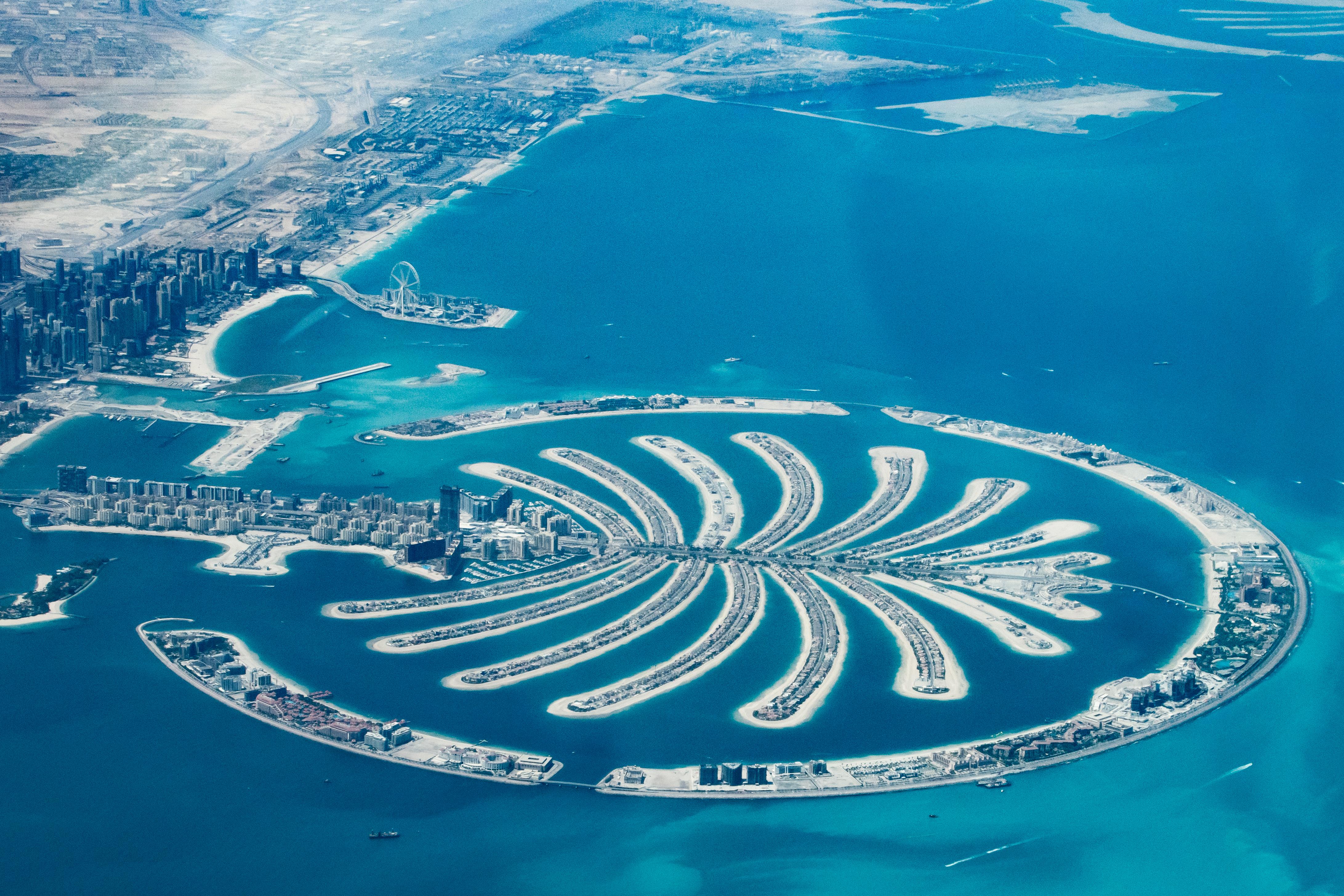 Palm Dubai from the air
