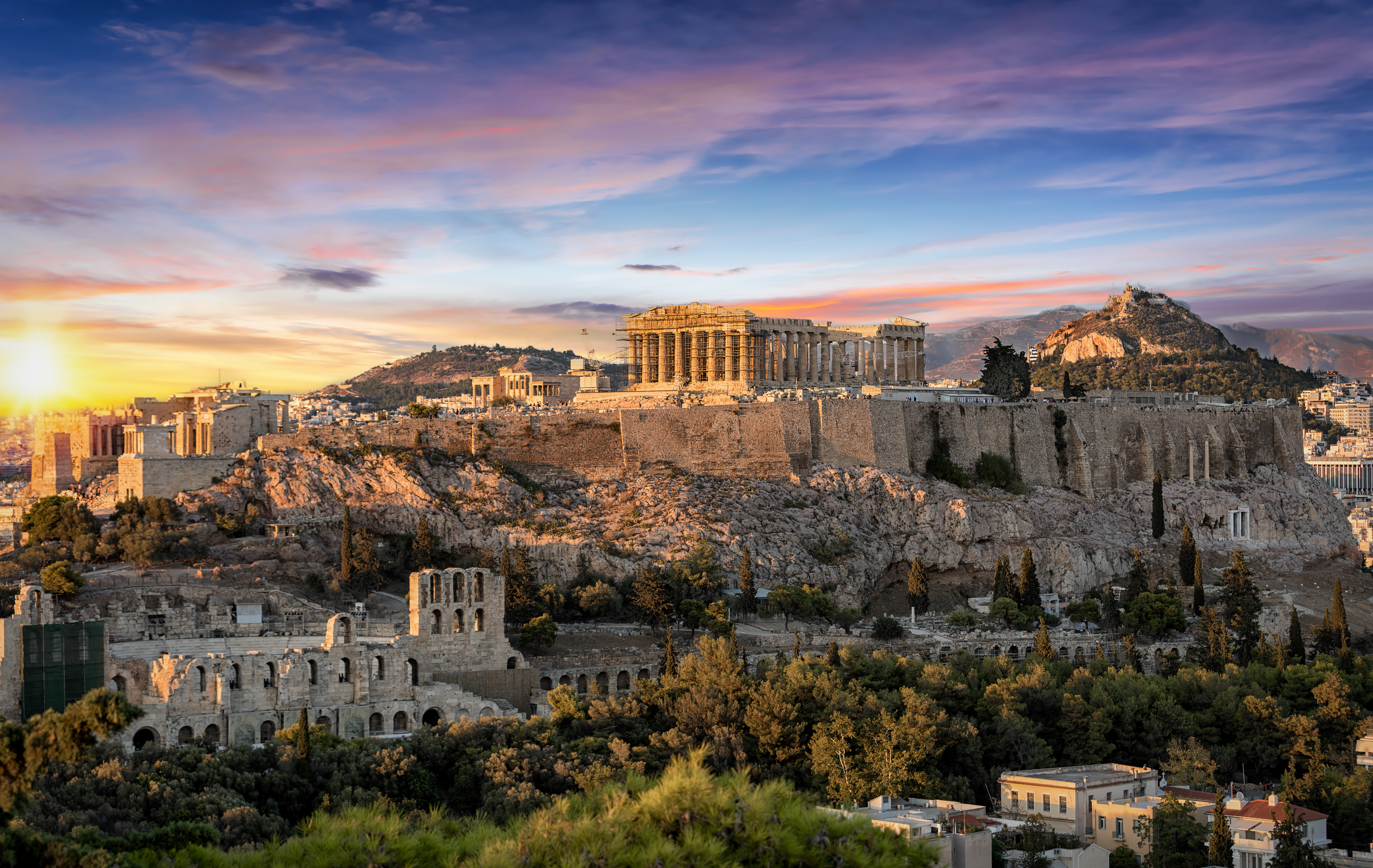 The Parthenon Temple at the Acropolis of