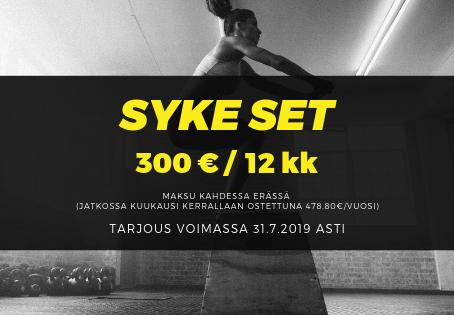 SYKE SET -TARJOUSHINTAAN 300 € / vuosi