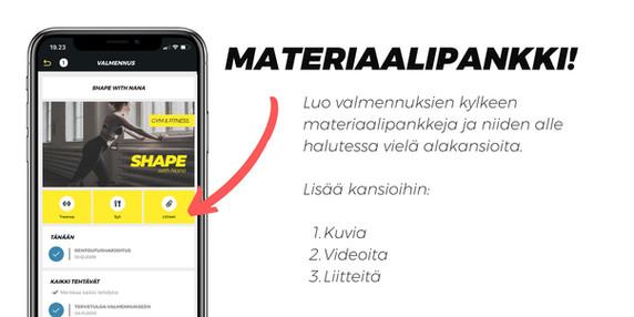 Myös materiaalit helposti!