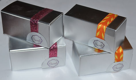 chocolate favor box, Chamak chocolate, sugar land caterer, sweet table sugar land