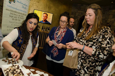 chocolate table, corporate events Sugar Land, corporate parties chocolate dessert
