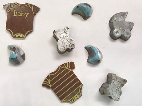 Chocolate Baby Shower Favors from Chamak Chocolates
