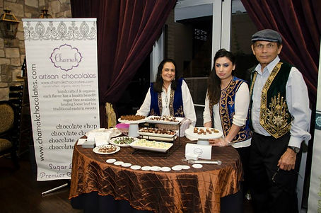 Aladdin, exotic chocolate, chocolate table, chocolate catering, Chamak Chocolate and catering