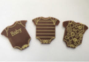 Chcolate Baby Shower Favor by  Onesies By Chamak Chocolates