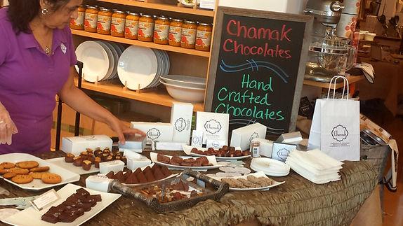 Williams Sonoma, Williams Sonoma Artisan Market, Artisan chocolate, handcrafted chocolates, chocolate table, chocolatier Houston, chocolate shop Houston
