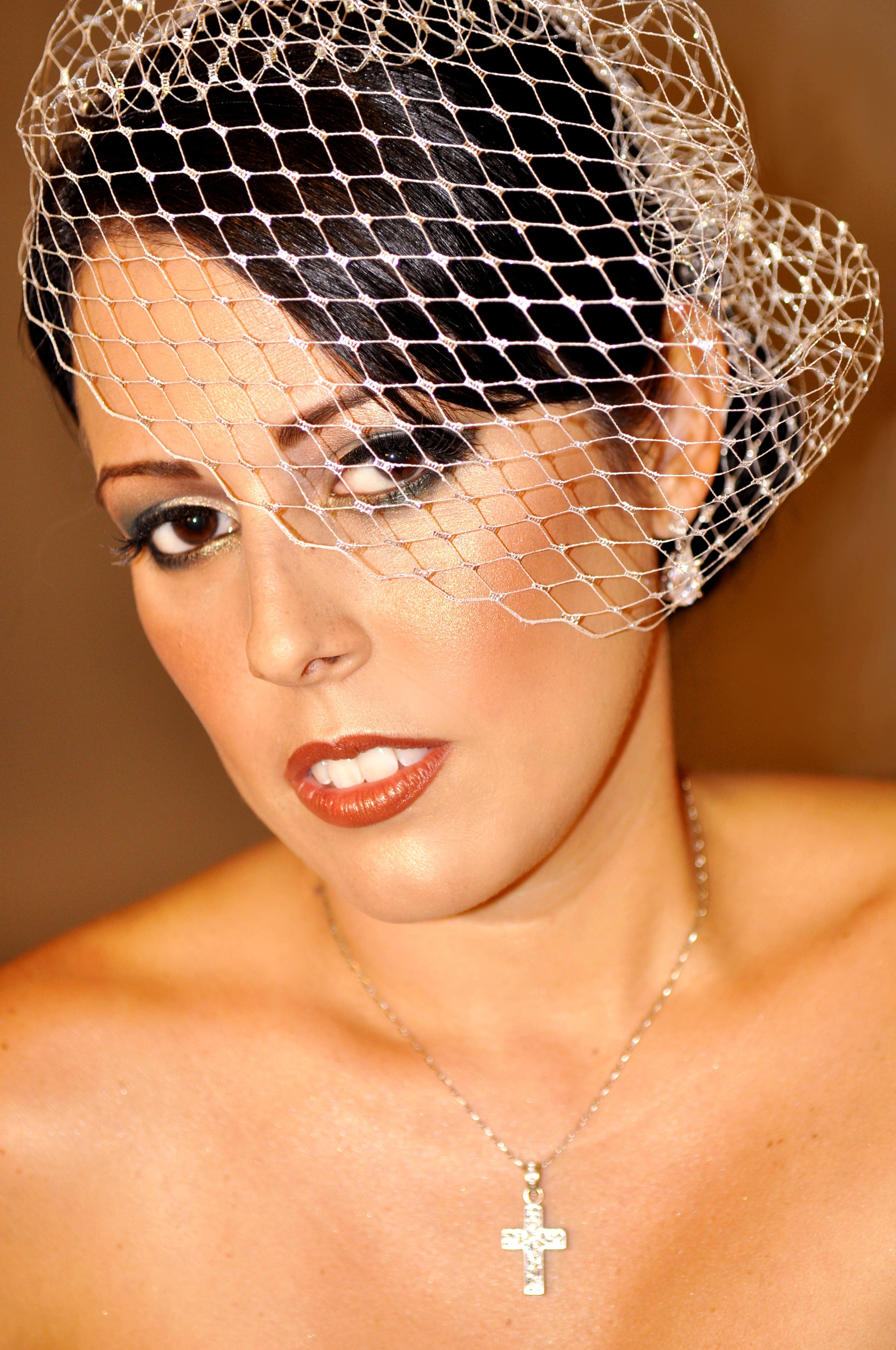 Vintage bridal makeup