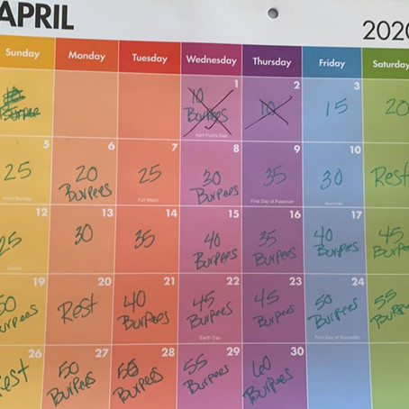 April Burpee Challenge