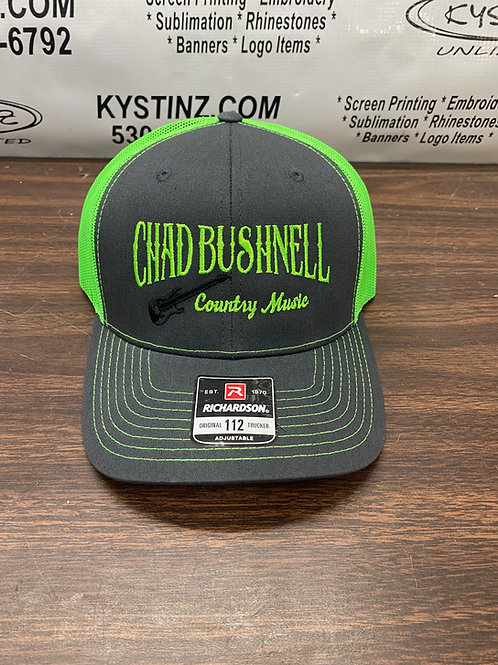 Snapback Trucker Hat (Bright Green/Gray)