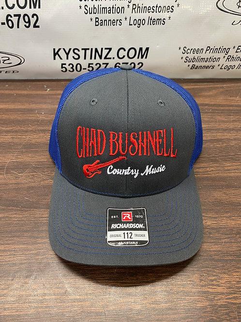 Snapback Trucker Hat (Blue/Red/Gray)