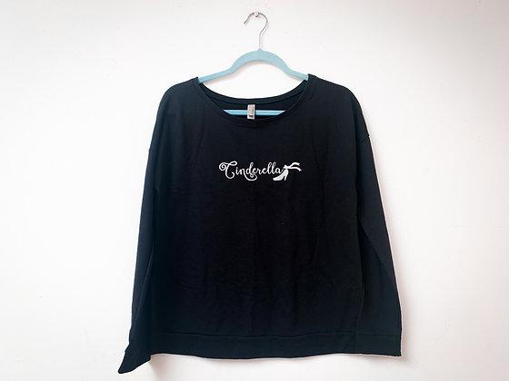 Cinderella Crew Neck Sweater, Black