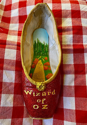 """Ruby """"Wizard of Oz"""" Hand-Painted Pointe Shoe"""