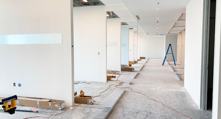 Muraflex demountable wall install at Dallas' The Epic
