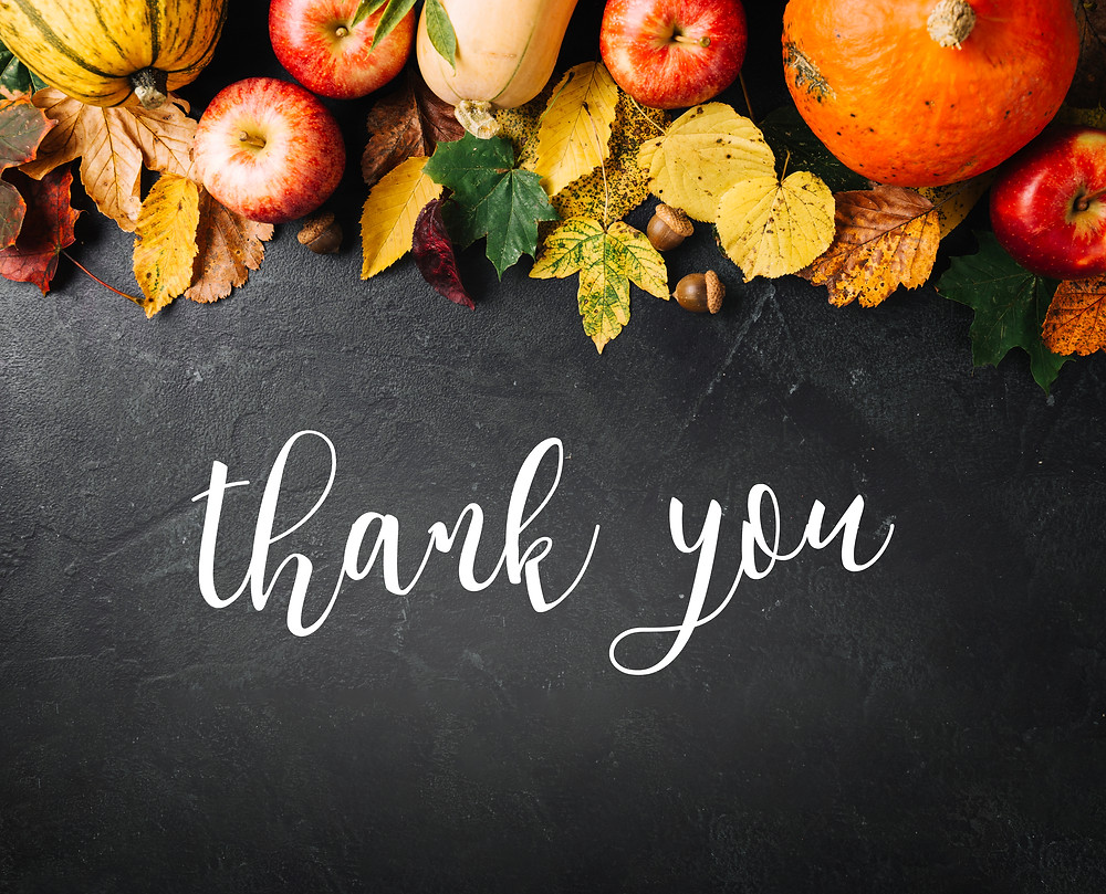 Thank you-fall setting