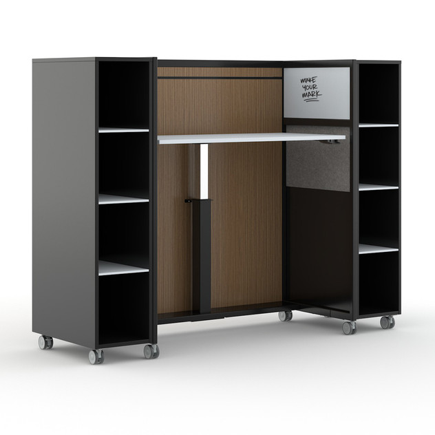 Work Cart with Storage Cabinets