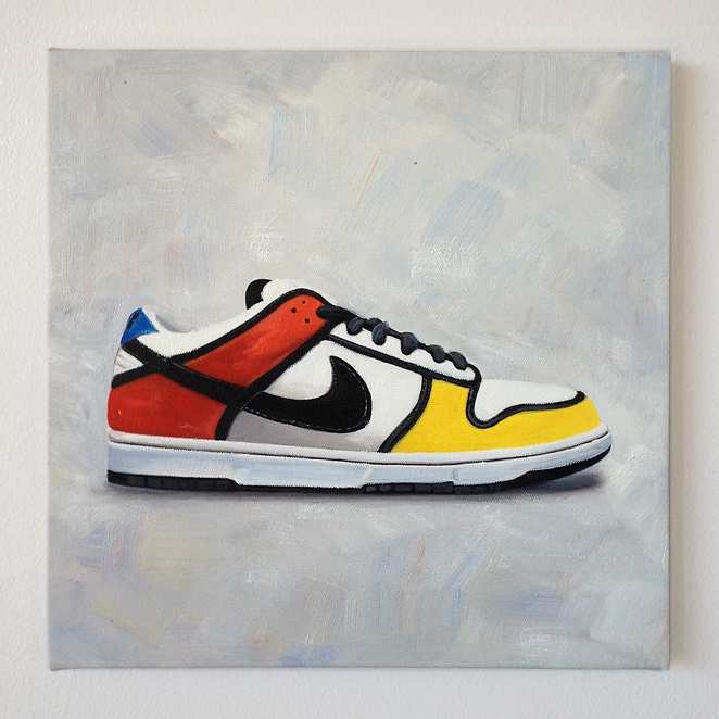 Alan Belcher 10.5 series oil on canvas portraits of Nike