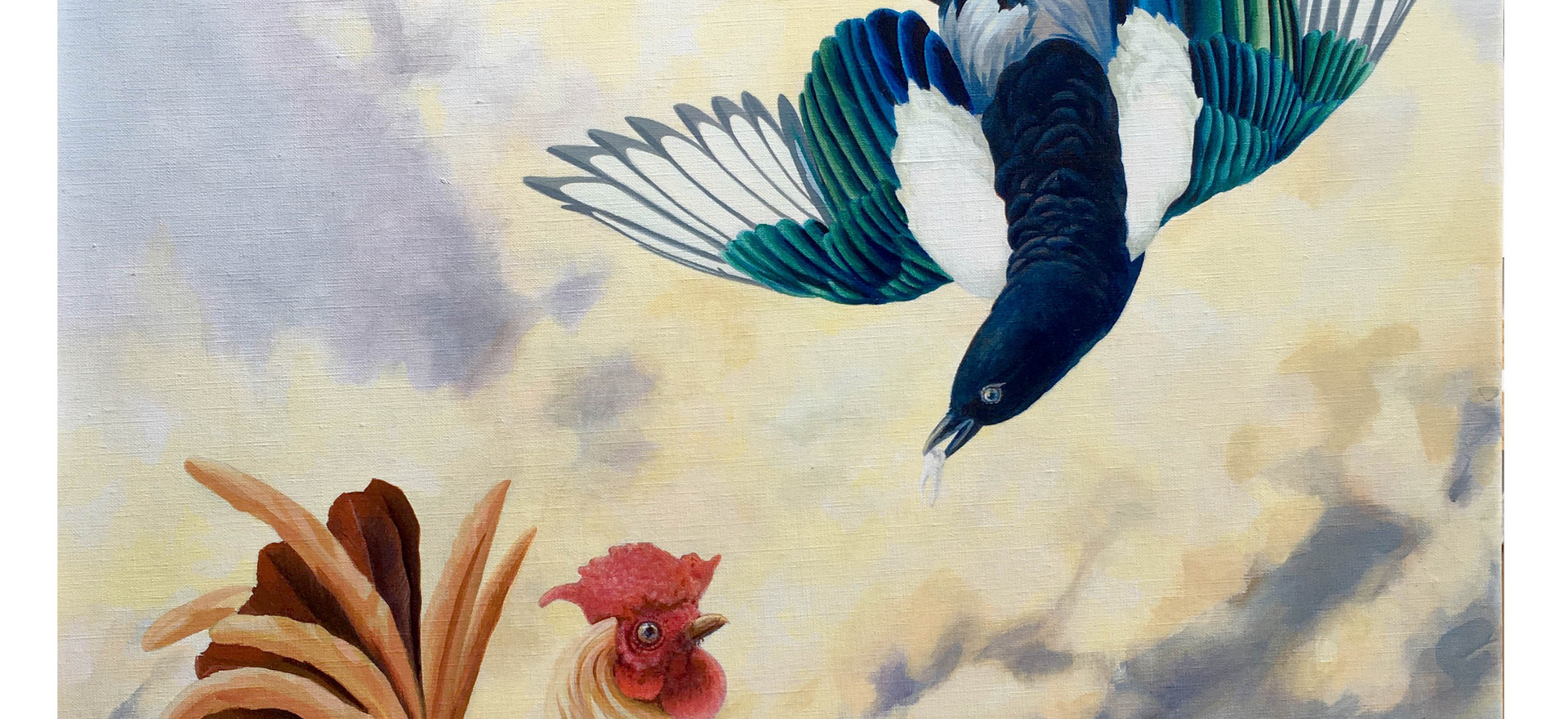 Rooster and Magpie with Tooth.