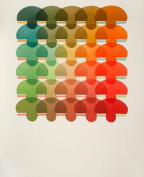 Green Blue Orange Red  acrylic on canvas