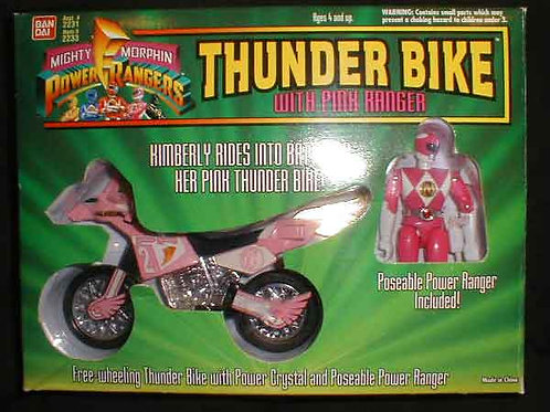 Mighty Morphin Power Rangers Thunder Bike with Pink Power Ranger