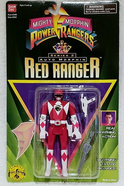 Mighty Morphin Power Rangers Auto Morphin Rocky Red Ranger Action Figure