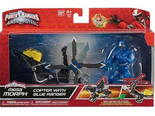 Mega Morph Copter with Blue Ranger